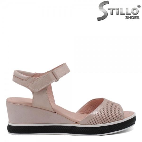Sandale piele naturala cu perforatie - 30887