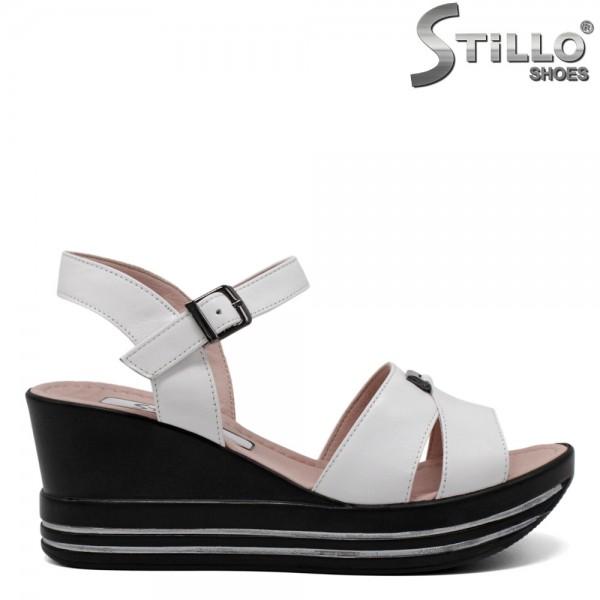 Sandale piele cu platforma - 30890