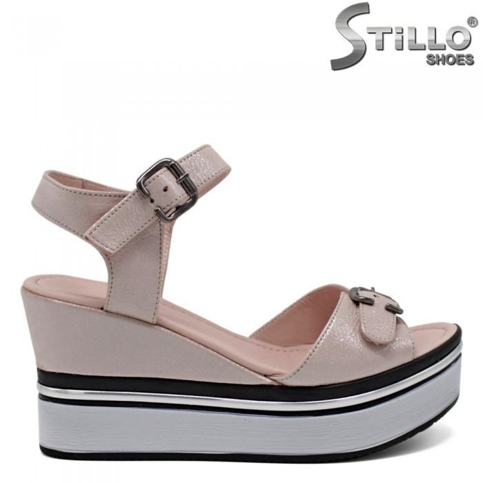 Sandale piele cu platforma - 30893