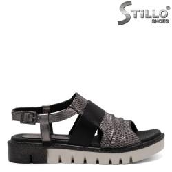Sandale dama piele naturala cu perforatie - 30896