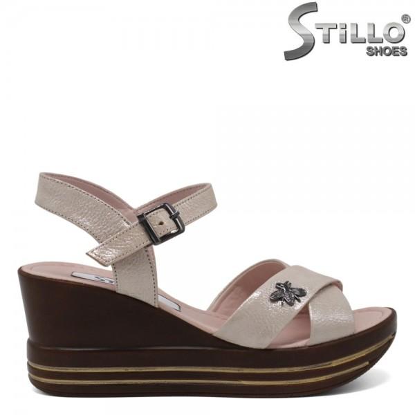 Sandale dama cu platforma si accesoriu - 30897