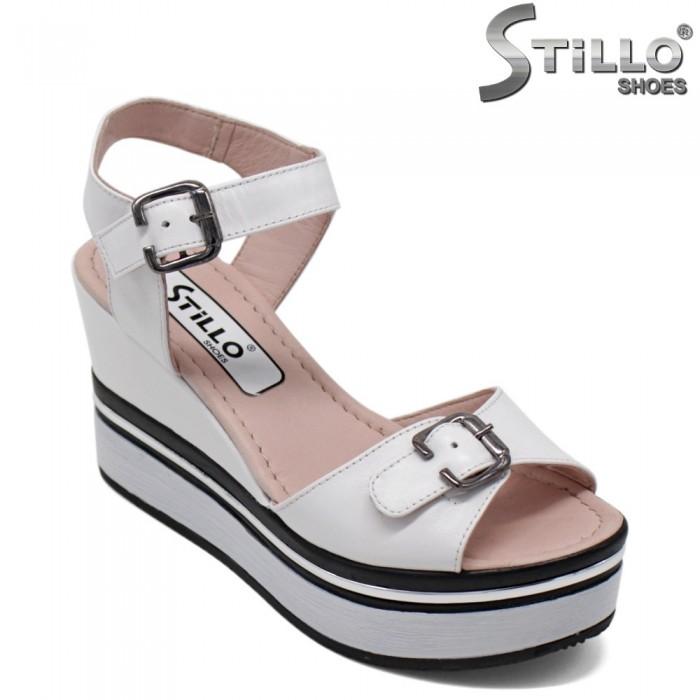 Sandale piele cu platforma - 30899