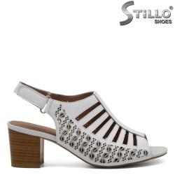 Sandale piele cu toc mijlociu - 30907
