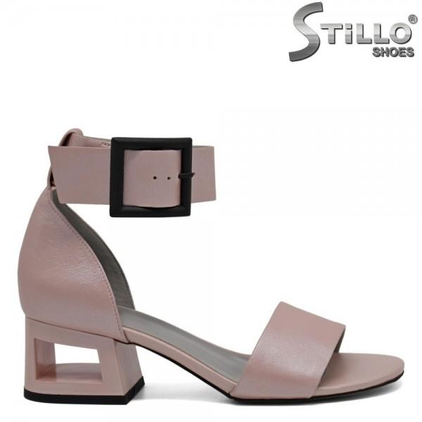 Sandale piele cu toc mijlociu - 30912