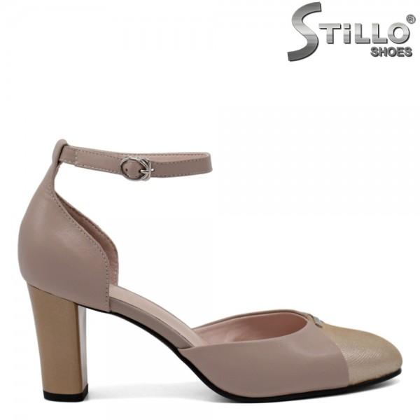 Pantofi piele culoare capucino - 30913