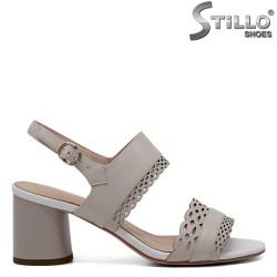 Sandale piele cu perforatie - 30934