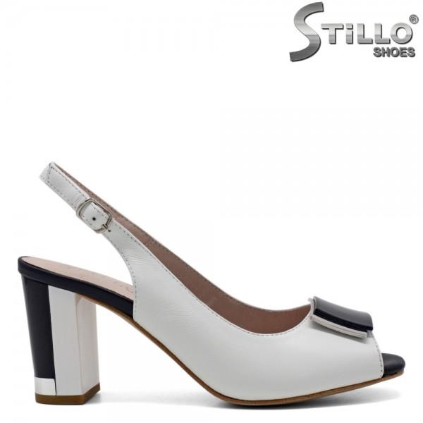 Sandale piele naturala cu toc - 30973