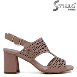 Sandale piele cu perforatii  №34 - 30988