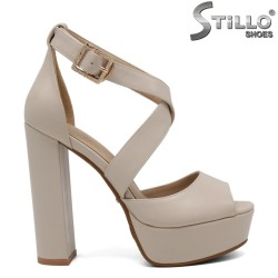 Sandale cu platforma si toc - 30998