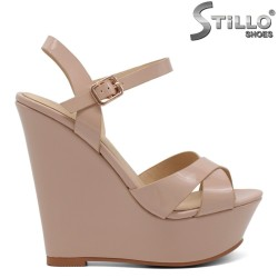 Sandale dama bej cu platforma - 30999