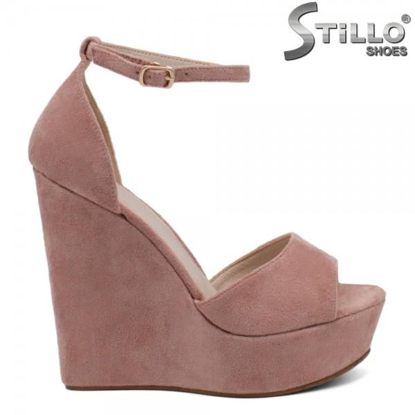 Sandale velur platforma - 31013