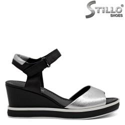 Sandale piele cu platforma - 31048