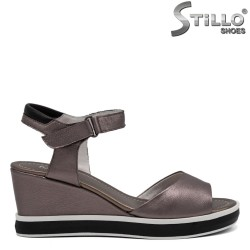 Sandale bronz din piele naturala - 31049
