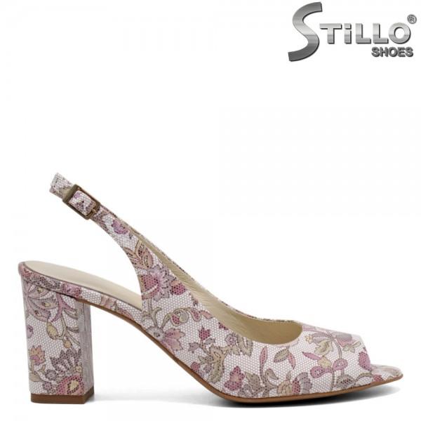 Sandale dama decorate din piele naturala - 31068