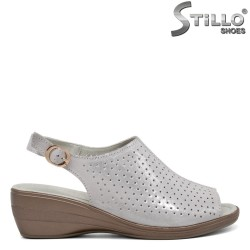 Sandale argintii cu perforatie - 31120