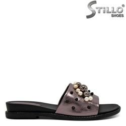 Papuci dama decorati cu perle - 31121