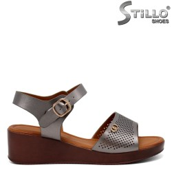Sandale dama cu platforma si decoratie - 31129