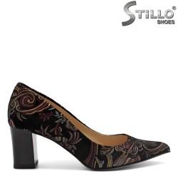 Pantofi dama din velur natural   - 31168