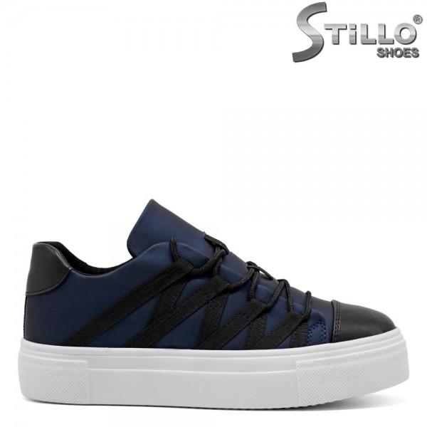 Pantofi tip sport cu elastic si cu sireturi - 31198