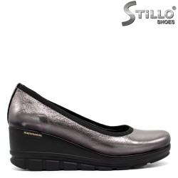 Pantofi argintii din piele naturala - 31207