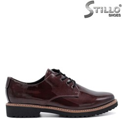 Pantofi  MARCO TOZZI din lac cu sireturi - 31216
