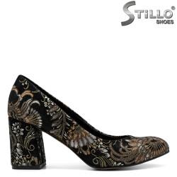 Pantofi dama din velur natural - 31219