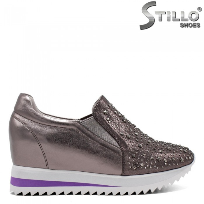 Pantofi tip sport din piele naturala - 31246
