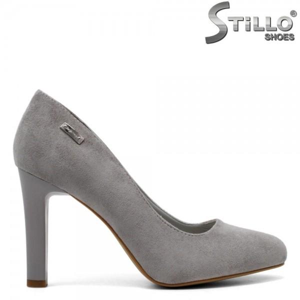 Pantofi dama din velur cu toc inalt - 31351