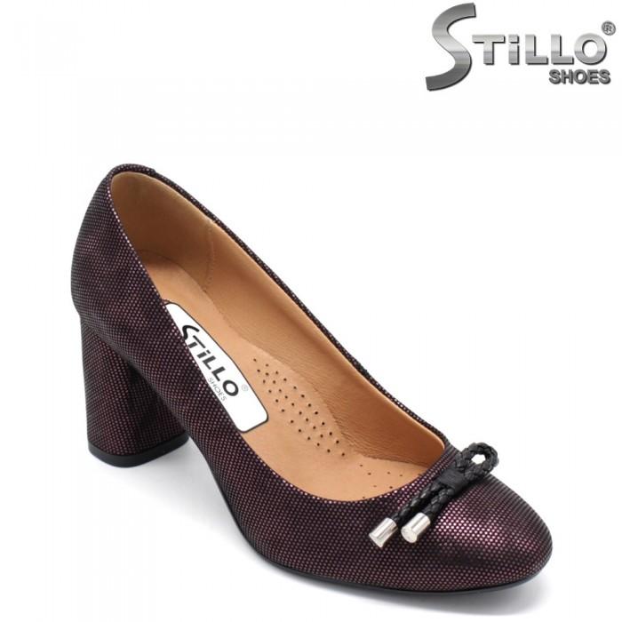 Pantofi dama de culoare bordo - 31368
