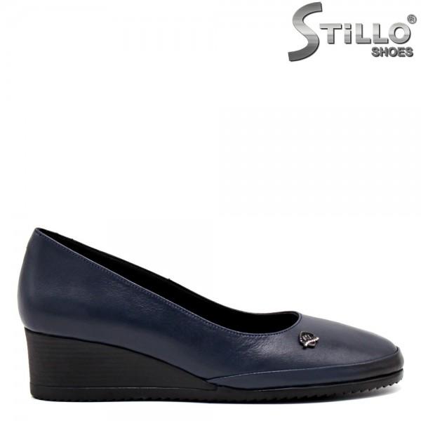 Pantofi piele pe platforma - 31409