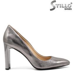 Pantofi dama piele naturala argintii - 31411