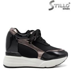 Pantofi tip sport  pe platforma  cu sireturi - 31446