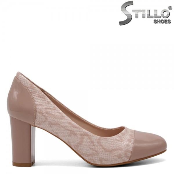 Pantofi dama din lac si piele ecologica - 31992