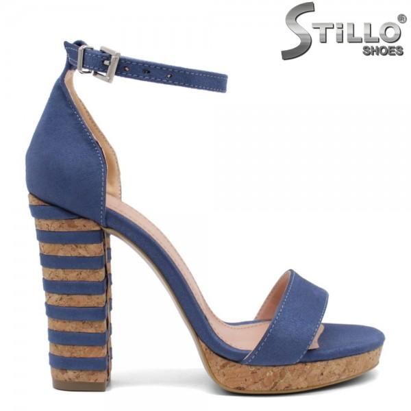 Sandale dama din velur ecologic - 32067