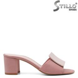 Papuci dama din velur ecologic - 32073