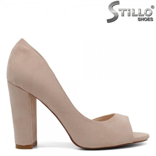 Pantofi dama din velur ecologic - 32086