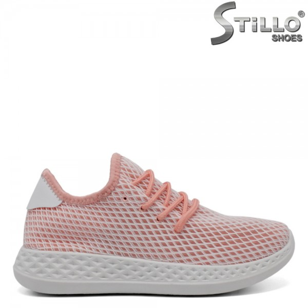 Pantofi dama tip sport de culoare roz - 32095