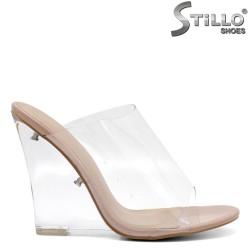 Papuci dama din silicon si lac - 32102