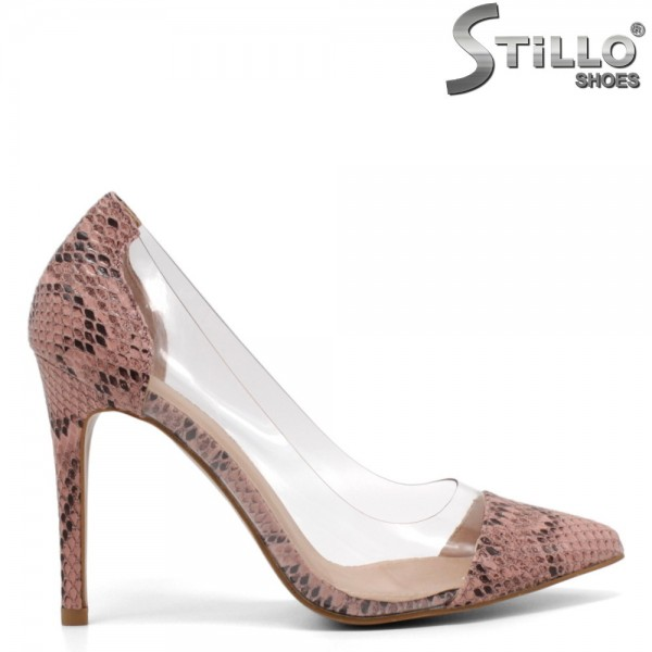 Pantofi dama din piele ecologica si silicon - 32119