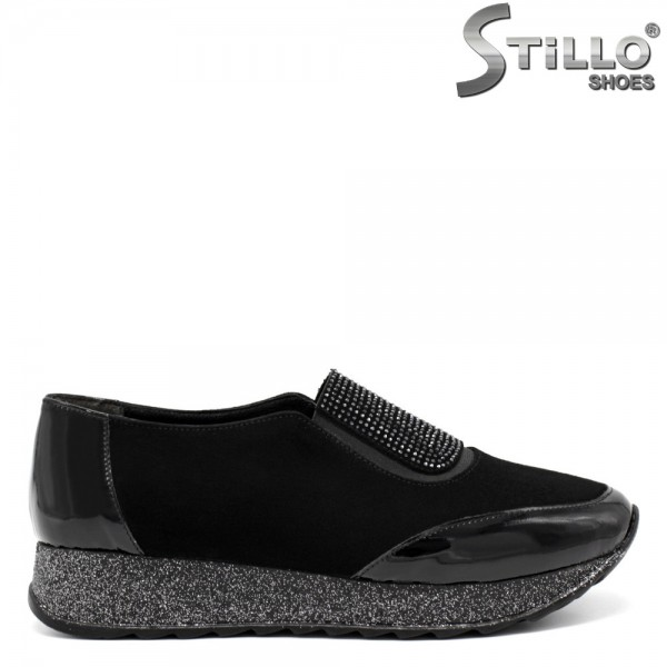 Pantofi dama tip sport din piele naturala si velur natural - 32131