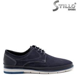 Pantofi barbati din nubuc natural si piele - 32144
