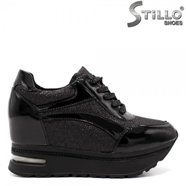 Pantofi dama tip sport din piele ecologica - 32169