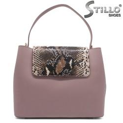 Geanta dama din piele naturala de culoare roz - 32223
