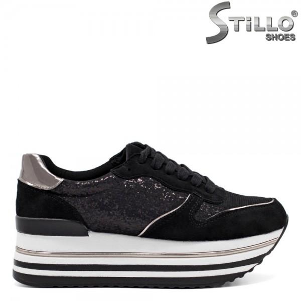 Pantofi dama tip sport din velur ecologic - 32297