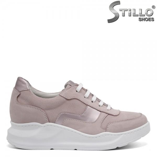 Pantofi dama din nubuc natural - 32356