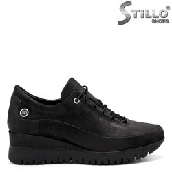Pantofi dama tip sport platforma si cu sireturi elastice - 32375