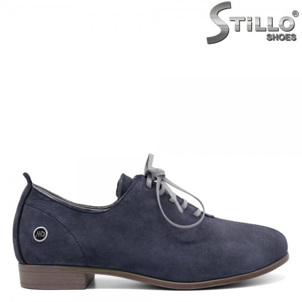Pantofi dama din nubuc natural - 32378
