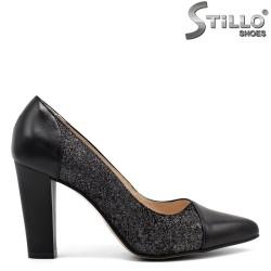 Pantofi dama cu toc inalt din piele naturala - 32392