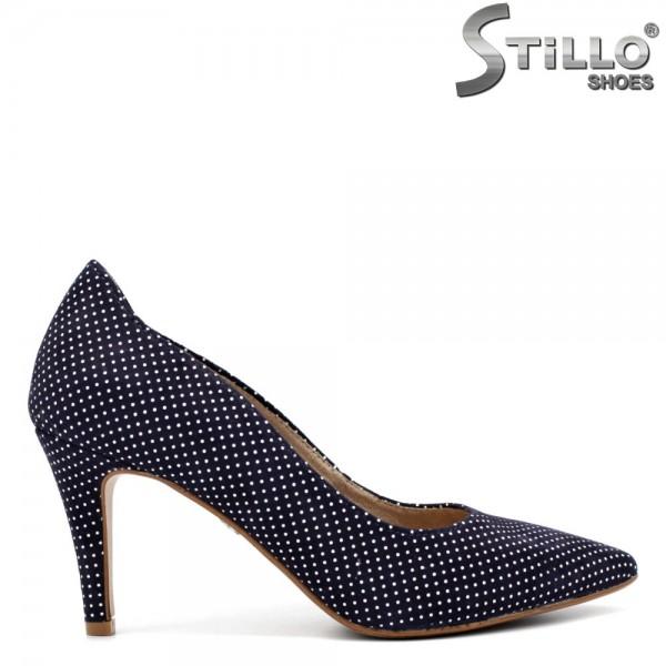 Pantofi dama model TAMARIS din velur natural - 32398