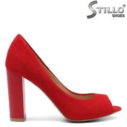 Pantofi dama din velur natural - 32433